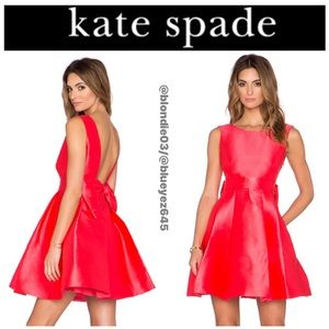 Kate Spade open bow back silk mini dress 10
